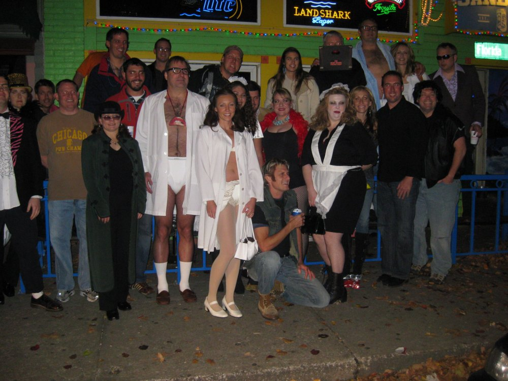 Rocky Horror Picture Show party bus group in 2009