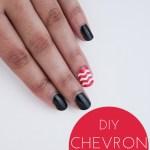 DIY Chevron Nails – How To
