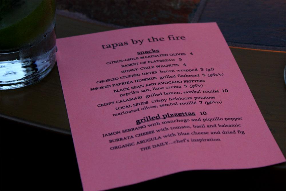tapas-menu