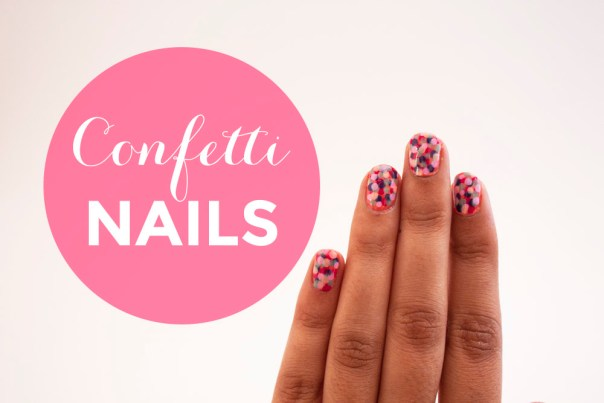 Confetti Nails/Dotted Nails