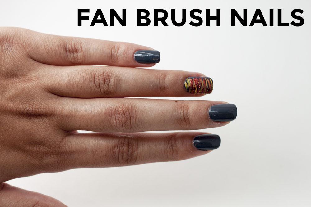 Fan Brush Nails - thesassylife