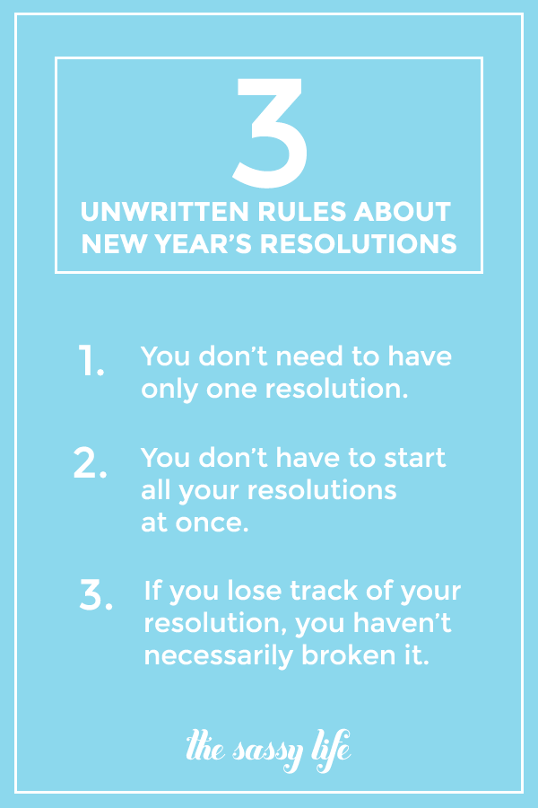 3 Unwritten Rules About New Year's Resolutions