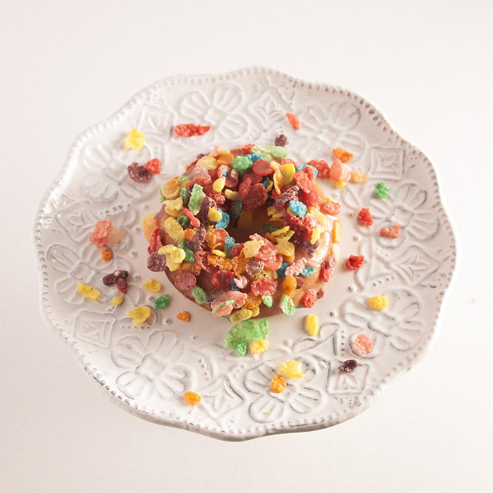 Fruity Pebbles Doughnuts, Cereal Doughnuts