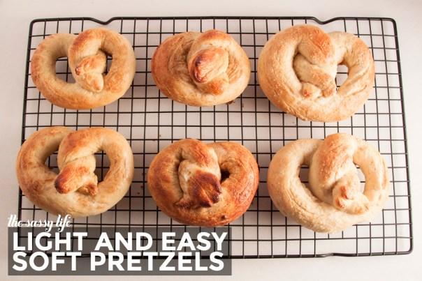 Light & Easy Soft Pretzels - the sassy life