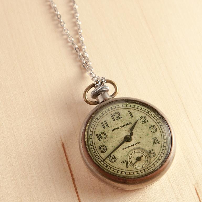 Diy vintage watch pendant necklace thesassylife vintage watch pendant necklace aloadofball Gallery