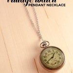 DIY Vintage Watch Pendant Necklace