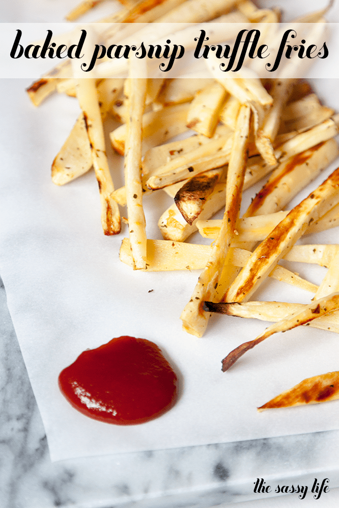 Baked Parsnip Truffle Fries