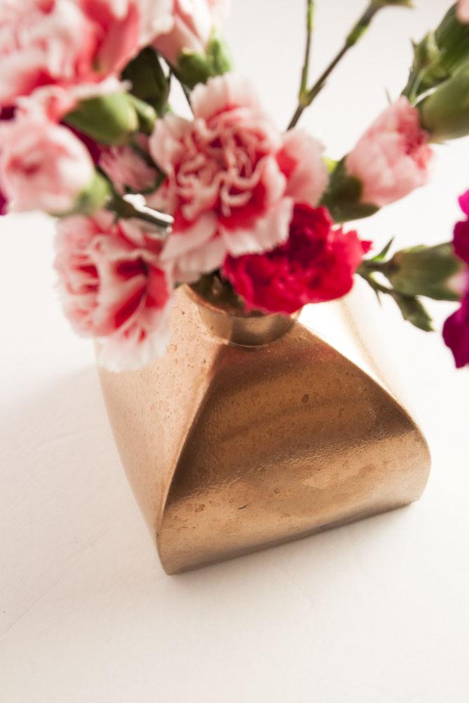 Diy Vintage Rose Gold Vase Thesassylife
