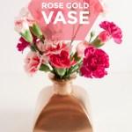 DIY Vintage Rose Gold Vase