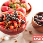Blueberry + Pomegranate Acai Bowl