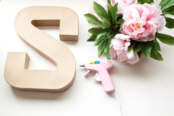 DIY Flower Letter Supplies