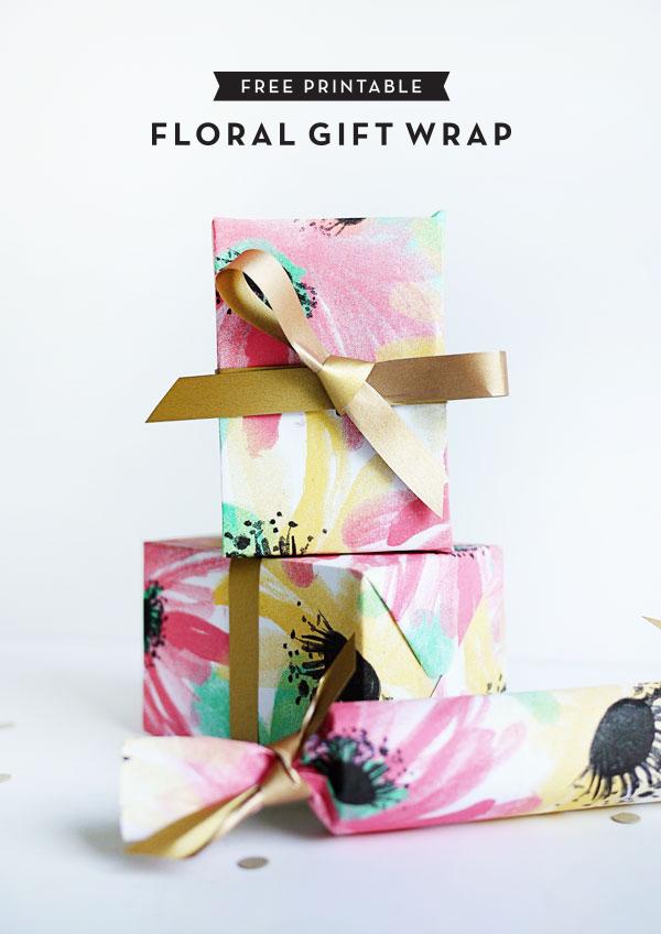 Printable Floral Gift Wrap
