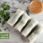 Spinach & Avocado Spring Rolls (Vegan)