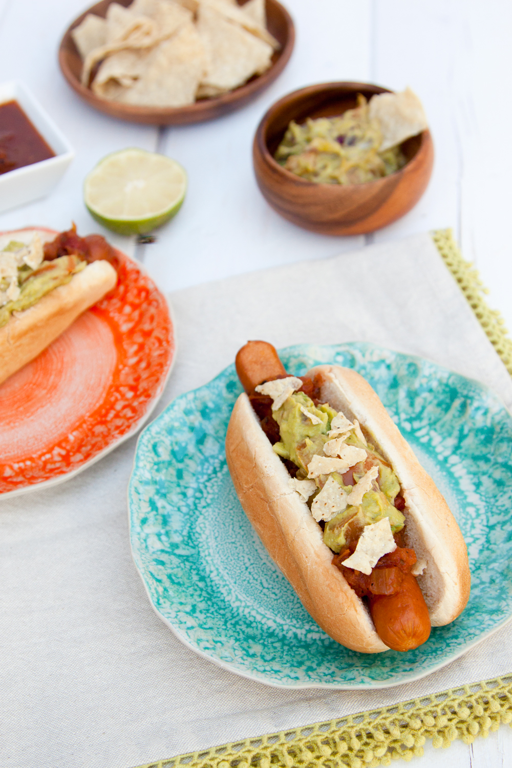 Guacamole Hot Dogs
