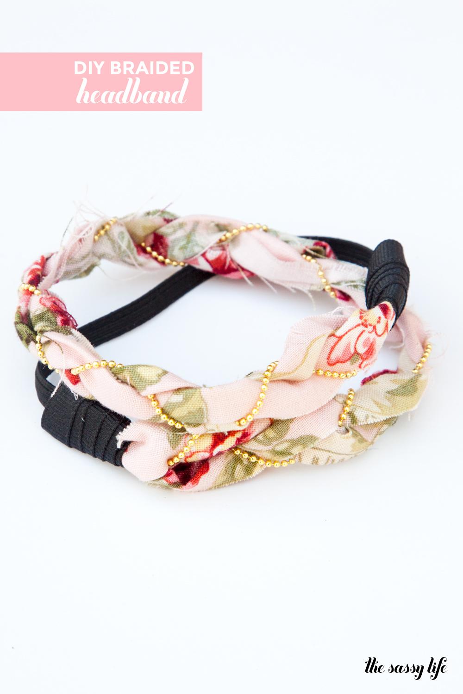 DIY Gold Chain Braided Headband