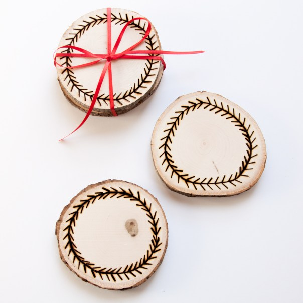 DIY Wood Burned Coasters