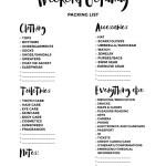 Weekend Getaway Packing List (Free Printable)