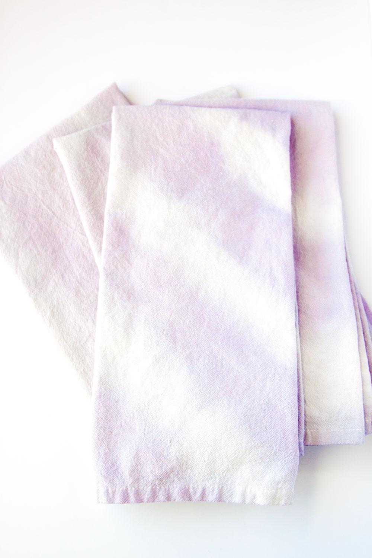 Dip Dye Napkins with Natural Dye