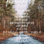 Fall Bucket List!