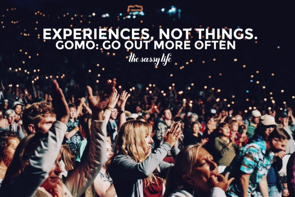 Experiences, not things