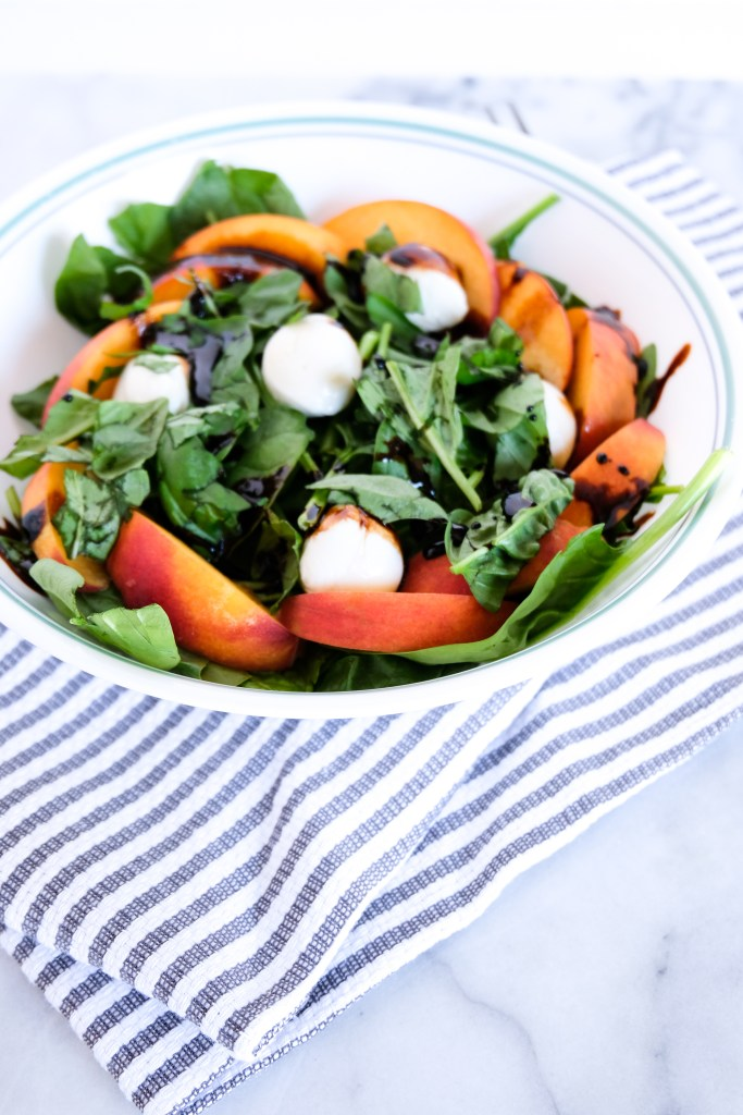 Easy Peach and Mozzarella Salad