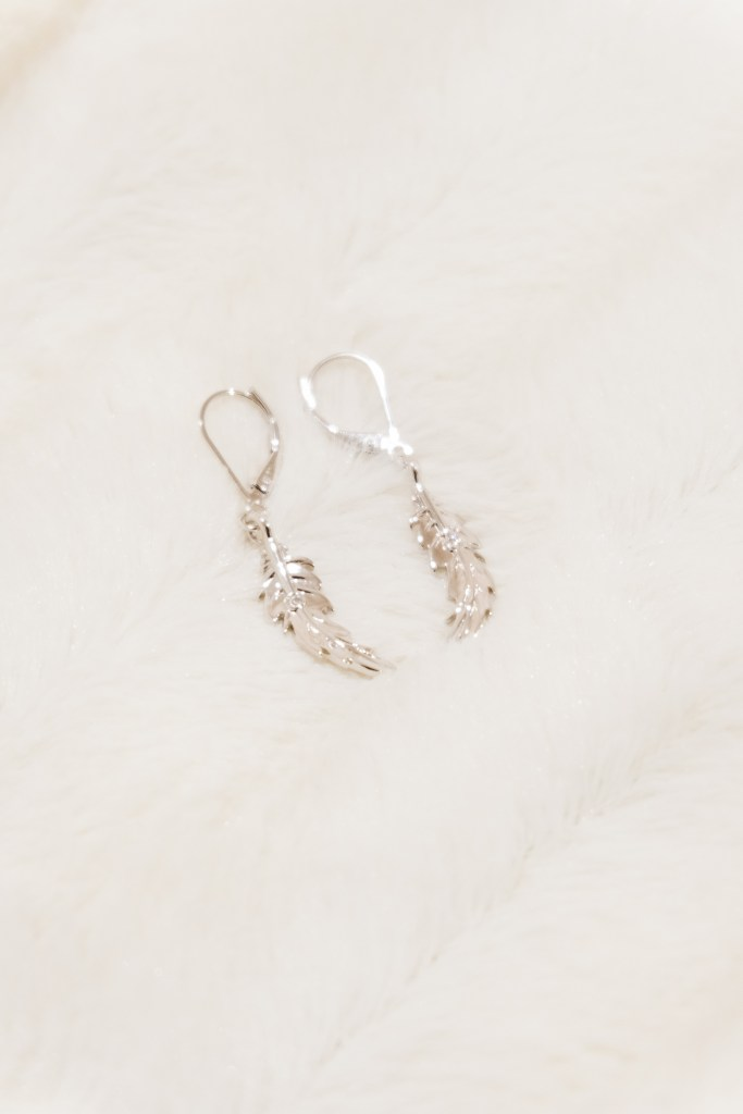 Boho By Spence Diamonds // Small Feather Earring $99.00 USD