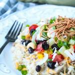 Healthy Hawaiian Haystacks with toppings