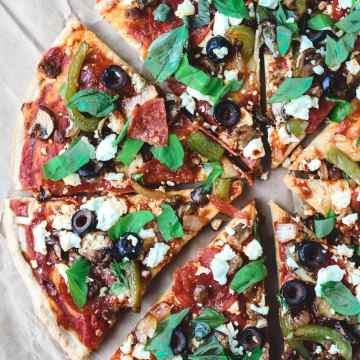 Gluten Free Pizza Sliced