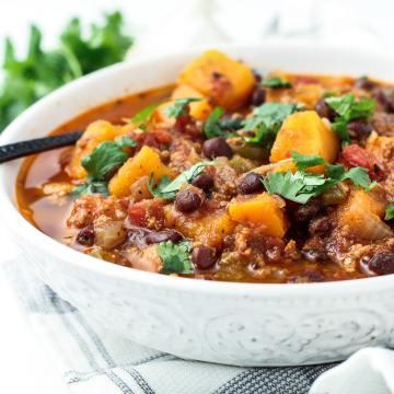 butternut squash black bean chili