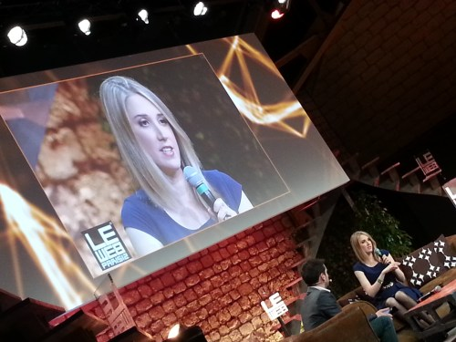 Yours truly on stage at LeWeb