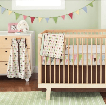 Skip Hop Bumper Free Pretty Penant Crib Bedding Set