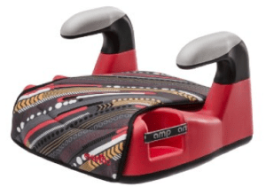 Evenflo Amp Lx No Back Booster Car Seat, Graphic Red Stripe