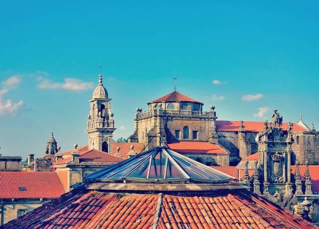 Santiago de Compostela rooftops