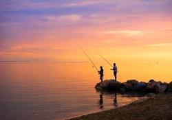 2 men fishing