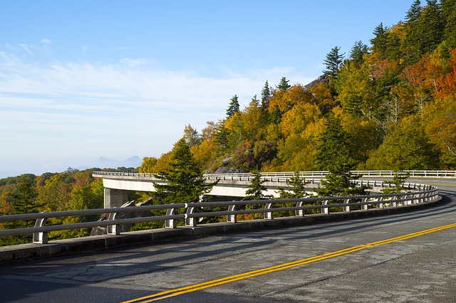Linn Cove Viaduct Blue Ridge Parkway is an East Coast road trip bucket list destination