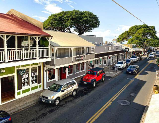 View of Front Street Lahaina