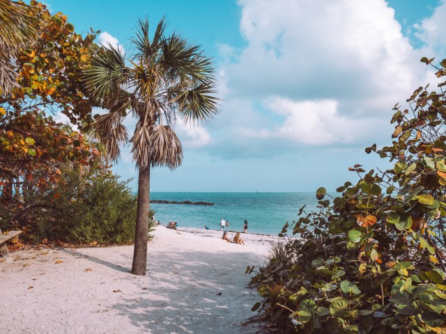 beach at Fort Zachary Taylor State Park key west weekend getaway