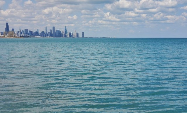 skyline view from Promentory Point Chicago