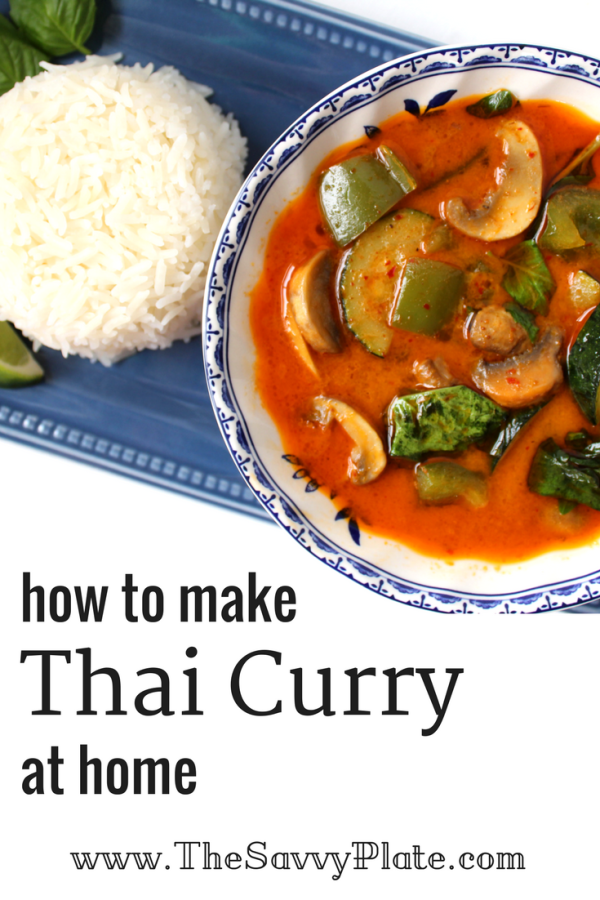 This bold and flavorful Thai curry recipe is full of vegetables and comes together in about 30 minutes, making it a great choice for a weeknight dinner.