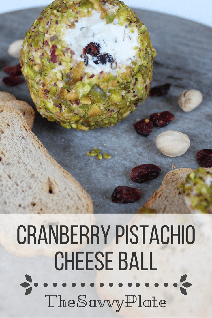Cranberry Pistachio Cheese Ball Recipe - Perfect for a parties, potlucks, and evenings in. It requires minimal preparation, and it's a quick and easy addition to any cheese and charcuterie board.