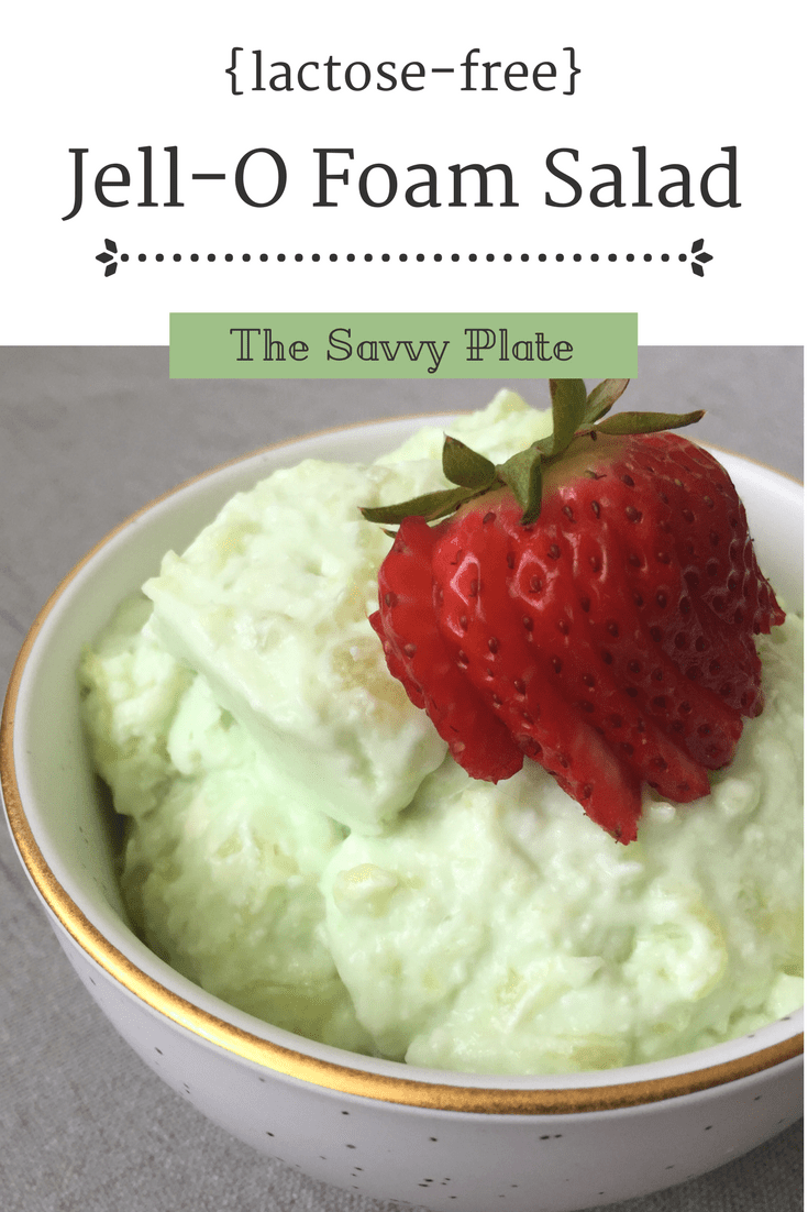 A lactose-free twist on a classic Jell-O salad recipe, perfect for serving as a simple dessert or side dish!