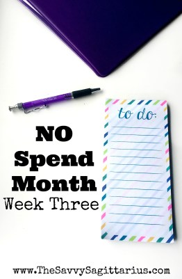 My No Spend Month Challenge is almost over. I put in 66 hours at work and cant wait for that paycheck! I would say Week Three went great!