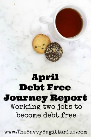April was my no spend month, but it definitely wasn't as good as I had hoped. Find out how my debt free journey is going!