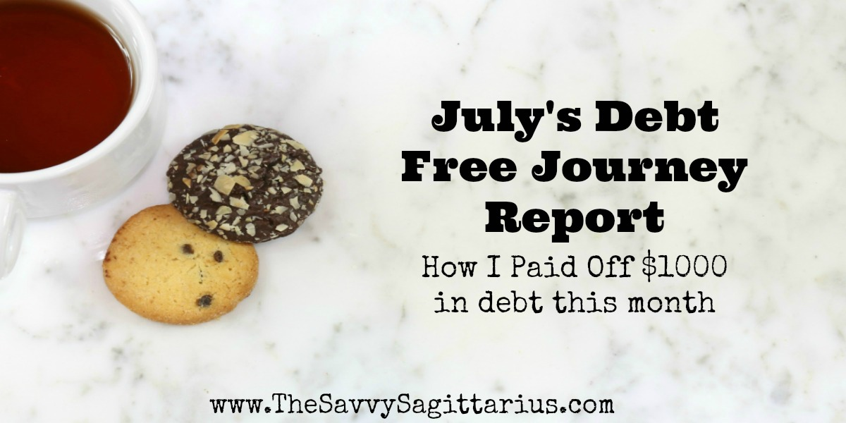 I spent July trying to scrape by with debt payments, but I would say that it seemed to workout okay for me this month! Here is how I paid off $1000 in debt this month!
