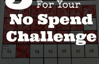 Preparing for a no spend challenge is extremely important.