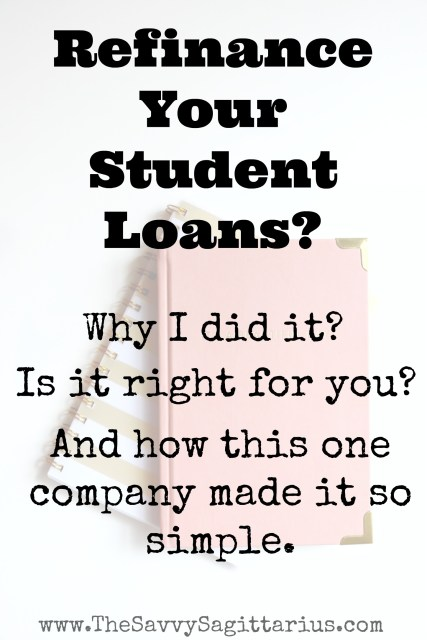 Refinancing my student loans was a decision made after lots of thought and research. I spent a lot of time trying to decide if it was ultimately worth it, but this one company made it so simple for me. Check out why I choose to refinance my student loans and how I did it!