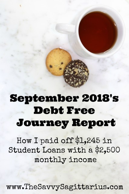 In September 2018, I put just under 50% of my income towards student loans! While I was doing a #NoSpendMonth, I was able to put extra money towards my student loans!