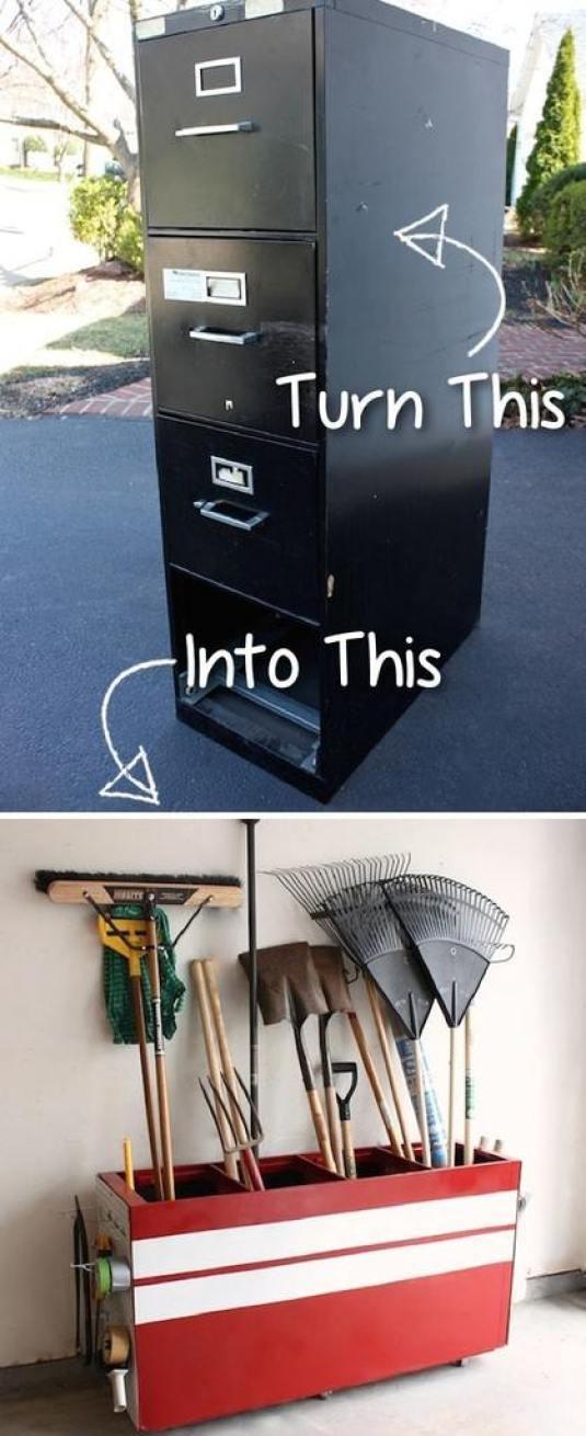 File Cabinet to Garage Storage