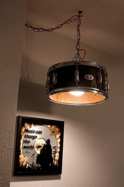 DIY drum lamp