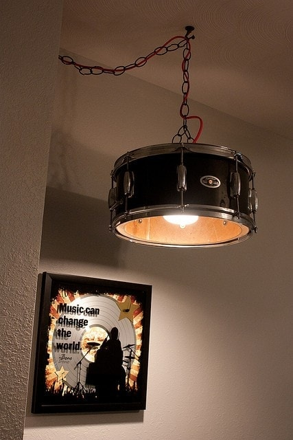 DIY drum lamp